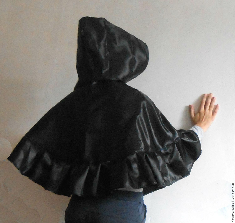 Накидка черная с рюшей, Одежда, Москва, Фото №1
