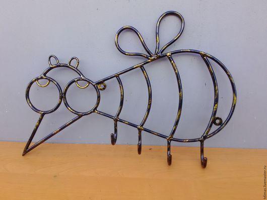 Прихожая ручной работы. Ярмарка Мастеров - ручная работа. Купить Вешалка из металла комар и рыба. Handmade. Вешалка, подарок
