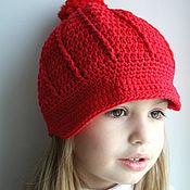 Работы для детей, ручной работы. Ярмарка Мастеров - ручная работа Красная кепочка для девочки. Handmade.