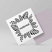 Дизайн ручной работы. Ярмарка Мастеров - ручная работа Готовый логотип, абстрактные тропические ветки. Handmade.