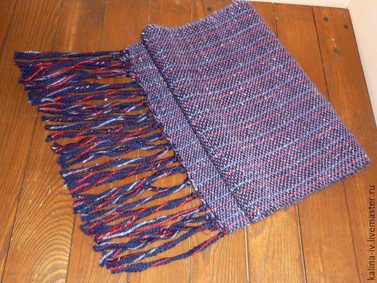 Шарфы и шарфики ручной работы. Ярмарка Мастеров - ручная работа. Купить шарф тканый. Handmade. Сиреневый, шерсть