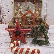 Сувениры и подарки handmade. Livemaster - original item Christmas decorations: A set of Christmas toys. Handmade.