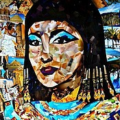 Картины и панно handmade. Livemaster - original item Painting in the technique of collage Cleopatra. Handmade.