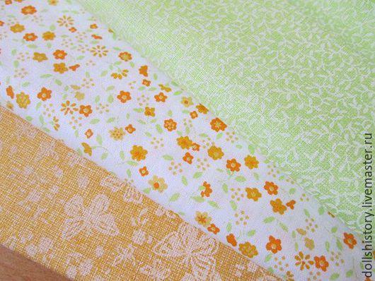 ткань хлопок мелкие цветочка, ткань цветочный рисунок, ткань для кукол, хлопок 100%.
