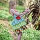 Одежда для девочек, ручной работы. Платье сарафан для девочки с рюшками фея Хлопок. Camilla Reynolds. Интернет-магазин Ярмарка Мастеров.