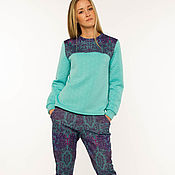 """Одежда ручной работы. Ярмарка Мастеров - ручная работа Комплект свитшот и брюки """"Bright texture"""". Handmade."""
