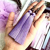 Украшения handmade. Livemaster - original item Earrings-brush tulips Lilac lavender lilac purple. Handmade.