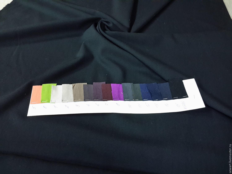 Шитье ручной работы. Ярмарка Мастеров - ручная работа. Купить Шерсть костюмно-плательная черная (Италия). Handmade. Платье из шерсти