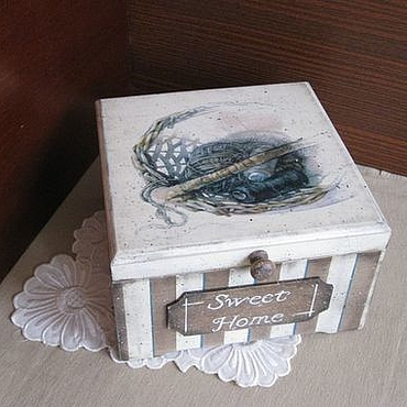 Для дома и интерьера ручной работы. Ярмарка Мастеров - ручная работа Шкатулка для рукоделия  В стиле кантри.... Handmade.
