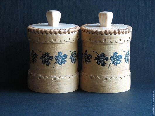 Посуда ручной работы. Ярмарка Мастеров - ручная работа. Купить Набор из двух туесков .. Handmade. Туесок, берестяная хлебница