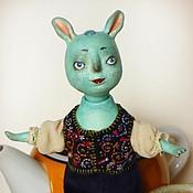 Куклы и игрушки ручной работы. Ярмарка Мастеров - ручная работа кукла бирюзовый зайчик Ту. Handmade.
