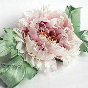"""Цветы и флористика handmade. Livemaster - original item Цветы из шелка. Пион """"Боне"""". Handmade."""
