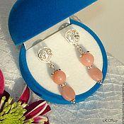 Earrings handmade. Livemaster - original item Earrings with Peruvian opal, silver. Handmade.