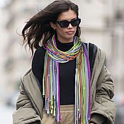 Украшения handmade. Livemaster - original item Evening Provence scarf necklace. Handmade.