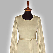 Одежда ручной работы. Ярмарка Мастеров - ручная работа Платье с ажурными рукавами 2. Handmade.