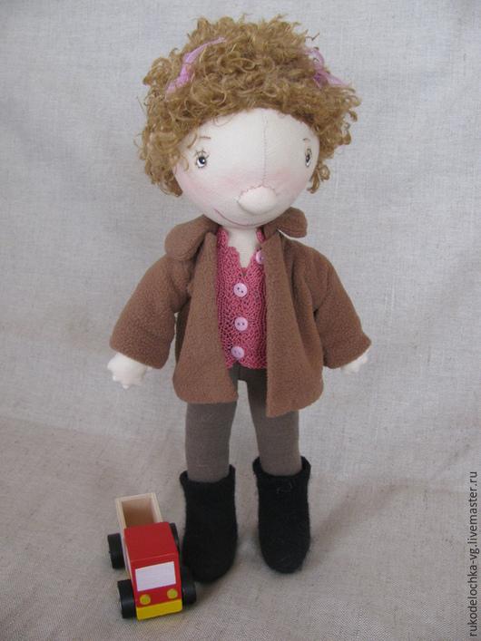 Коллекционные куклы ручной работы. Ярмарка Мастеров - ручная работа. Купить Анютка. Handmade. Коричневый, куклы и игрушки, детская игрушка