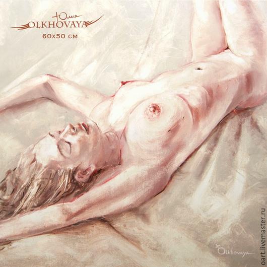 Художник Ольховая Юлия. Желанная, любима женщина светится счастьем. Ручная работа, единственный экземпляр