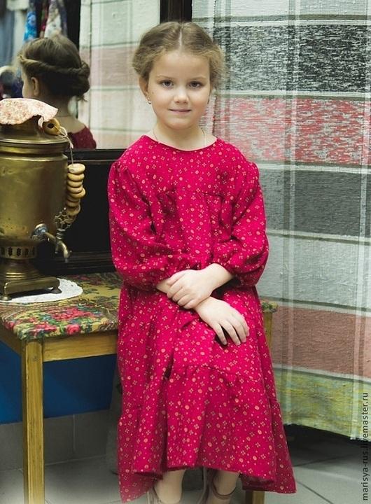 Одежда для девочек, ручной работы. Ярмарка Мастеров - ручная работа. Купить Платье из штапеля для девочки.. Handmade. Платье, платье детское