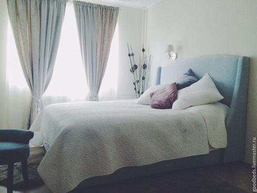 Мебель ручной работы. Ярмарка Мастеров - ручная работа. Купить Кровать Оскар II. Handmade. Голубой, красивая кровать, дсп