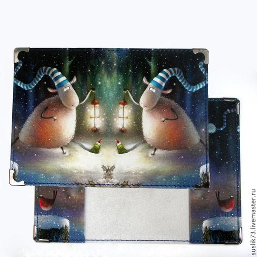 """Новый год 2017 ручной работы. Ярмарка Мастеров - ручная работа. Купить обложка для паспорта """"Овечка"""". Handmade. Gjlfhjr, обложка на паспорт"""