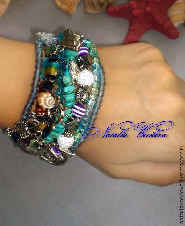 Kit 'Sea waves' bracelet & earrings, Jewelry Sets, St. Petersburg,  Фото №1