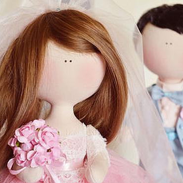 Куклы и игрушки ручной работы. Ярмарка Мастеров - ручная работа Работа на заказ: Жених и невеста. Handmade.