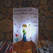 """Для дома и интерьера ручной работы. Ярмарка Мастеров - ручная работа ночник-куб """"Зорко одно лишь сердце"""". Handmade."""