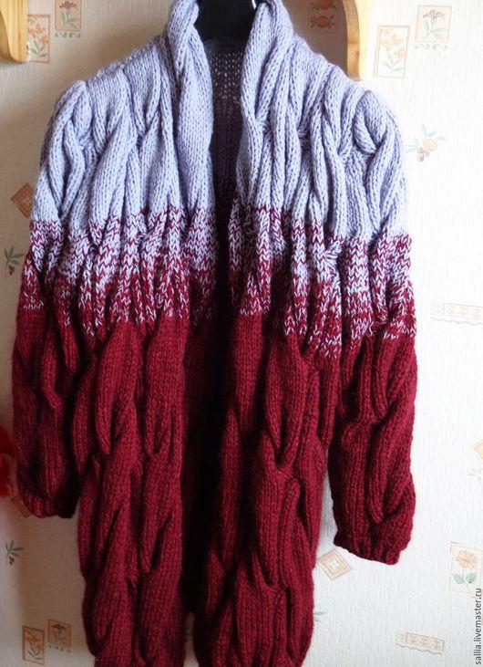 Верхняя одежда ручной работы. Ярмарка Мастеров - ручная работа. Купить Готовый Кардиган или пальто.. Handmade. Косы