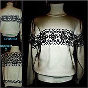 Одежда handmade. Livemaster - original item Associated linen with wool Sweater winter. Handmade.