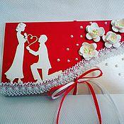 Открытки ручной работы. Ярмарка Мастеров - ручная работа Конверт для Свадебного поздравления, признания. Handmade.