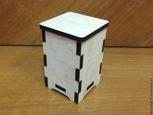Коробочка  (продается в разобранном виде)  Размер: 7х7х10 см  Материал: фанера 6 мм