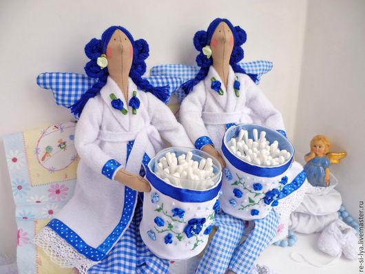 Куклы Тильды ручной работы. Ярмарка Мастеров - ручная работа. Купить Банный ангел тильда,синий.. Handmade. Синий, габардин