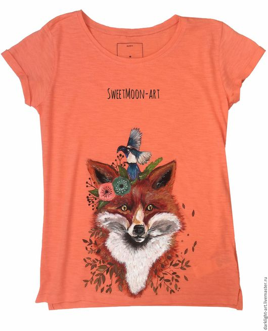 """Футболки, майки ручной работы. Ярмарка Мастеров - ручная работа. Купить Футболка """"Forest Fox"""". Handmade. Футболки, футболка"""