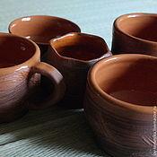 """Посуда ручной работы. Ярмарка Мастеров - ручная работа Комплект посуды """"Музыка ветра"""". Handmade."""