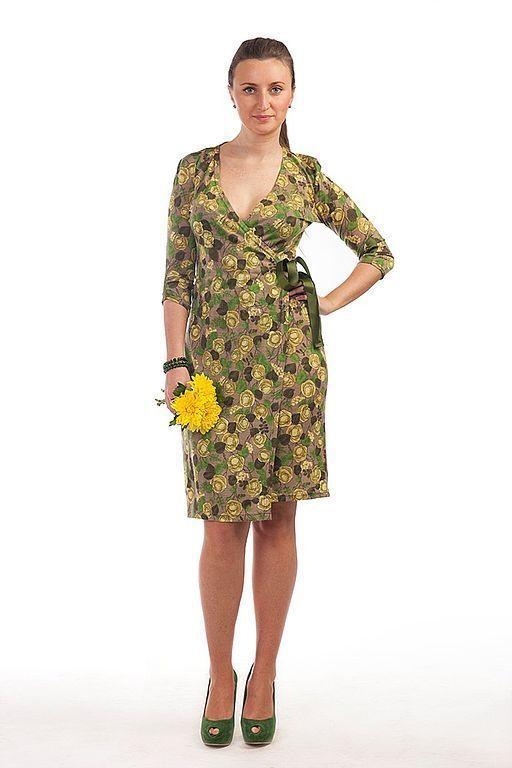 Платья ручной работы. Ярмарка Мастеров - ручная работа. Купить Трикотажное платье 035. Handmade. Трикотажное платье, платье с репсом