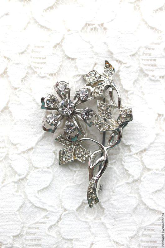 """Винтажные украшения. Ярмарка Мастеров - ручная работа. Купить Винтажная брошь """"Silver flower"""", США. Handmade. Винтажная брошь"""