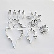 Материалы для творчества handmade. Livemaster - original item Cutter chrysanthemums, with leaves. Handmade.