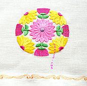 Скатерти ручной работы. Ярмарка Мастеров - ручная работа Вышивка Японский мотив, цветочный орнамент в круге Дизайн для вышивки.. Handmade.