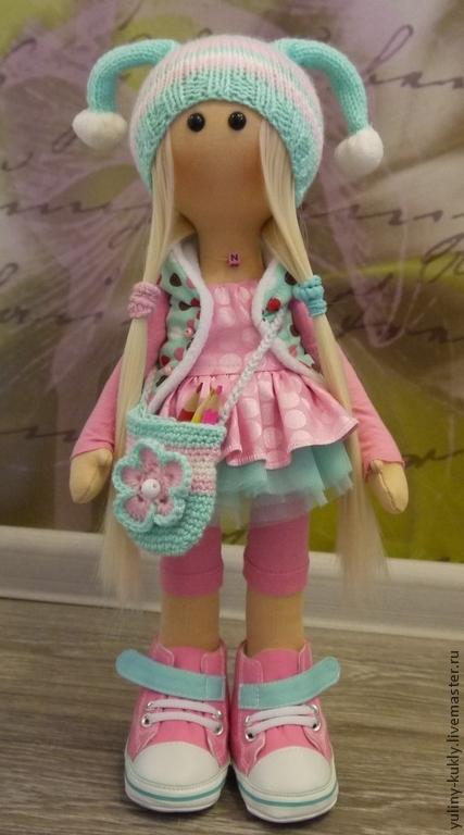 Коллекционные куклы ручной работы. Ярмарка Мастеров - ручная работа. Купить Текстильная куколка ручной работы Ника. Handmade. Розовый