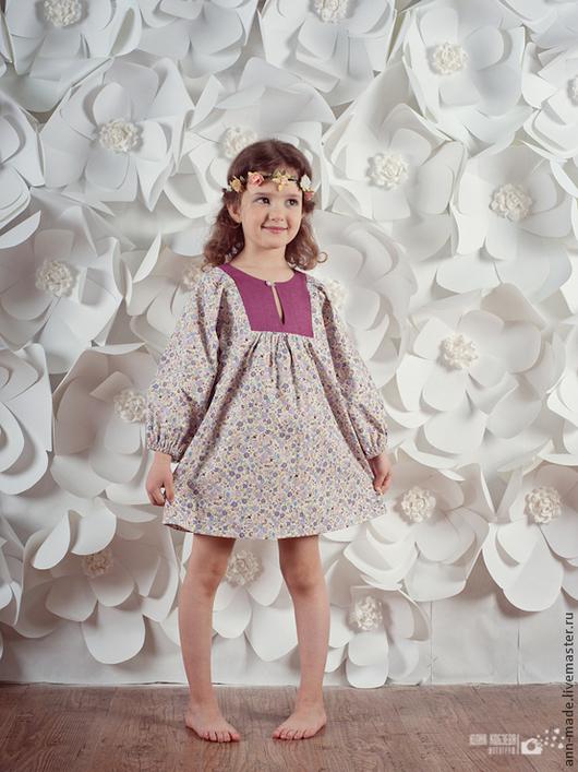 Одежда для девочек, ручной работы. Ярмарка Мастеров - ручная работа. Купить Платье (Арт.: Д-5). Handmade. Цветочный