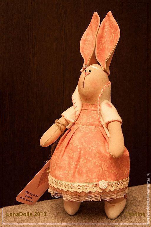 Игрушки животные, ручной работы. Ярмарка Мастеров - ручная работа. Купить - Клодин -. Handmade. Зайка, кукла в подарок, подарок женщине