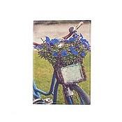 """Канцелярские товары ручной работы. Ярмарка Мастеров - ручная работа Обложка на паспорт """"Велосипед Blue"""". Handmade."""