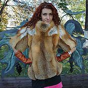 Жилеты ручной работы. Ярмарка Мастеров - ручная работа Жилет-свитер из меха лисы. Handmade.