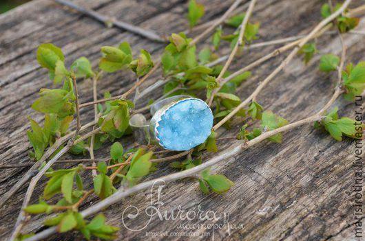 """Кольца ручной работы. Ярмарка Мастеров - ручная работа. Купить Кольцо """"Айсберг"""". Handmade. Голубой, скидка 20%, кольцо с камнем"""