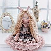 Куклы и игрушки handmade. Livemaster - original item Bunny. Textile collectible dolls. Handmade.