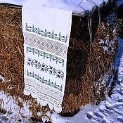 Русский стиль handmade. Livemaster - original item Towel with handmade lace. Handmade.