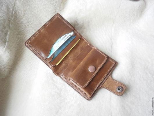 Кошельки и визитницы ручной работы. Ярмарка Мастеров - ручная работа. Купить кошелёк из кожи кожаный кошелёк портмоне кожаное ручной работы. Handmade.
