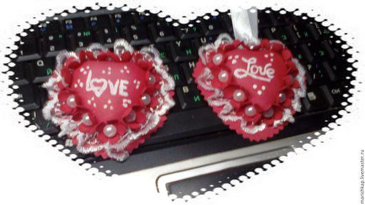 Подарки для влюбленных ручной работы. Ярмарка Мастеров - ручная работа. Купить Сердце на день Святого Валентина. Handmade. Ярко-красный