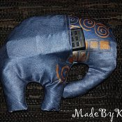 Для дома и интерьера ручной работы. Ярмарка Мастеров - ручная работа Подушка-игрушка Слон с карманом. Цвета разные.. Handmade.