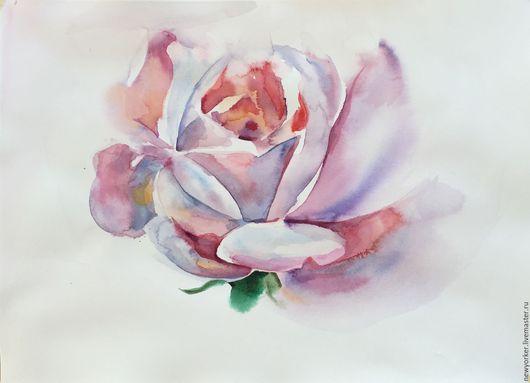 Картины цветов ручной работы. Ярмарка Мастеров - ручная работа. Купить Розы. Handmade. Бледно-розовый, подарок на любой случай